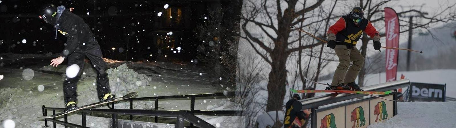 rails gnarbear street snowboarding skiing aiden chmura cannon mountain rail backyard