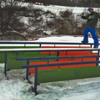 Custom GnarBear Snowboarding Rails