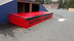 box hubba ledge grind rail gnarbear skate skateboarding