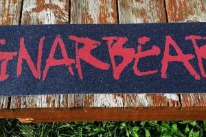gnarbear scratch skateboard grip tape full
