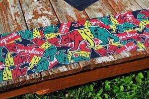 gnarbear stickerbomb skateboard griptape full