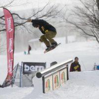 cannon mountain fatty rail terrain park snowboarding skiing