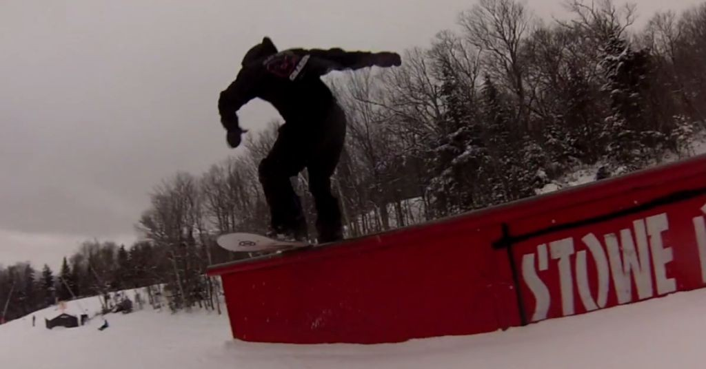 gnarbear aiden chmura snowboarding ramps rails apparel