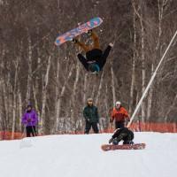 snowboarding riley cooper gnarbear stowe snowboard jump terrain park