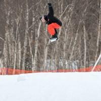 stevo snowboard roast beef gnarbear snowboarding rail box