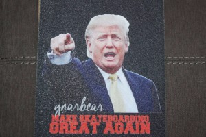 donald trump gnarbear skateboarding grip tape griptape skateboard