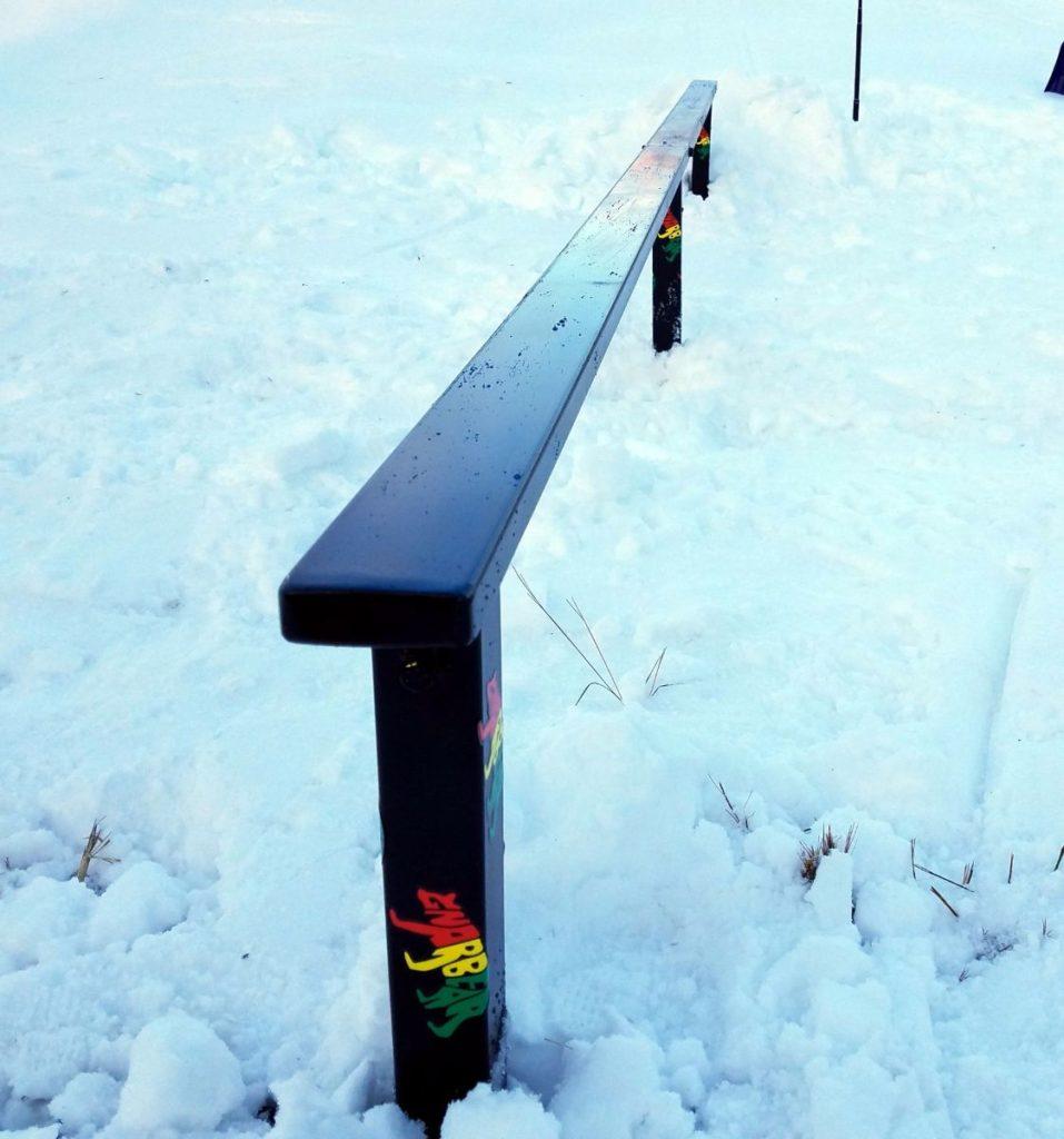 ... Skiing Snowboarding Rail Box Snow Ski Snowboard Terrainpark Backyard  Setup ...