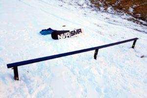 skiing snowboarding rail box snow ski snowboard terrainpark backyard setup